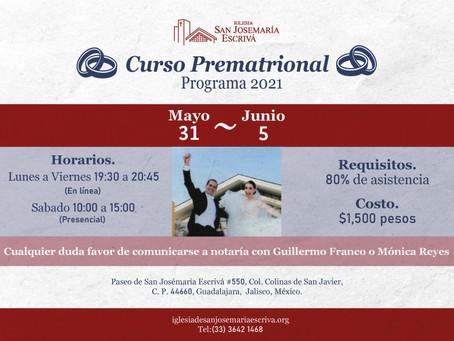 Curso Prematrimonial mayo-junio 2021