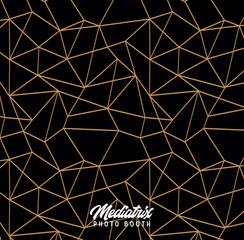 Premium Black & Gold Geometric (Pillowcase)