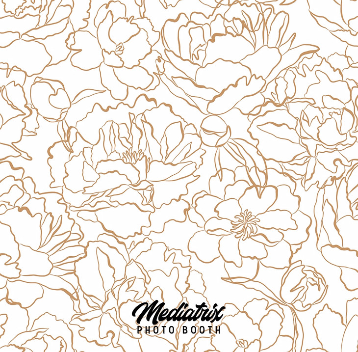 Premium White & Gold Flowers (Pillowcase)