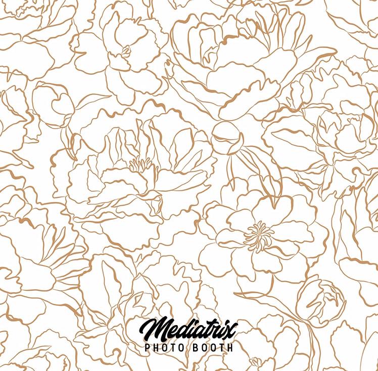 Premium White & Gold Flowers (Pillowcase)