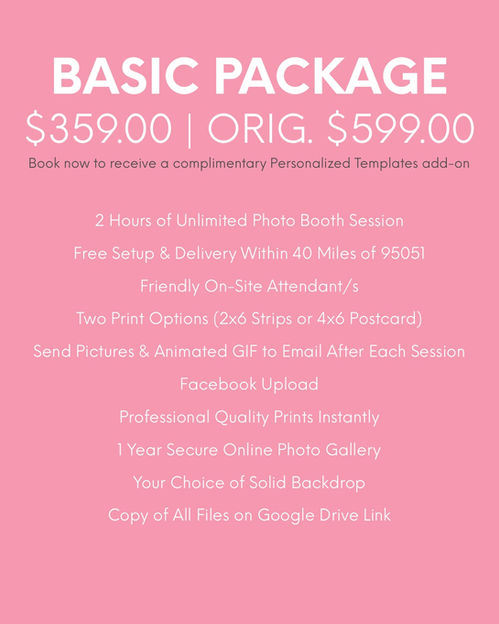 Mediatrix Photo Booth | Basic Package