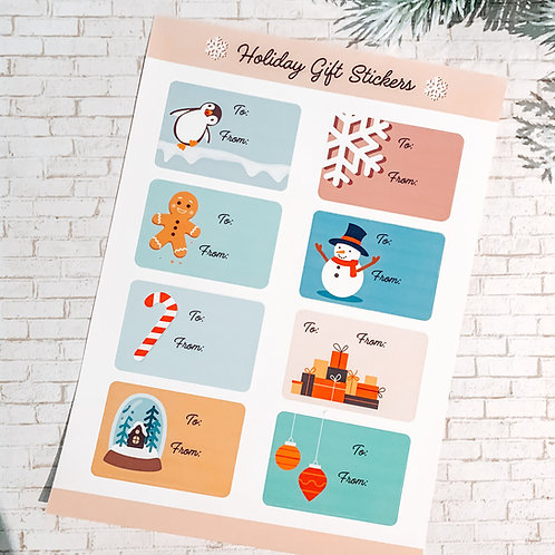 Holiday Gift Tag Stickers