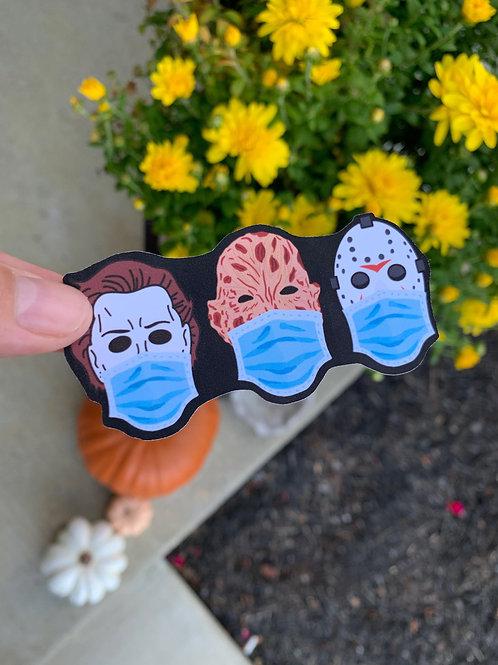 Wear Your Masks Horror Sticker