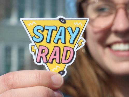 Stay Rad 90s Vintage Sticker