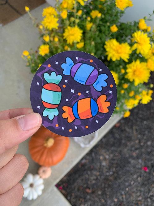 Halloween Candy Sticker