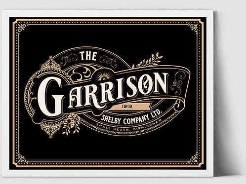 The Garrison Shelby Company LTD   Art Print   Peaky Blinders