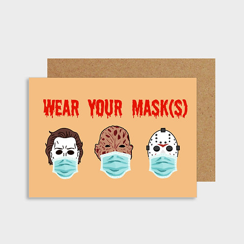 Wear Your Masks Card