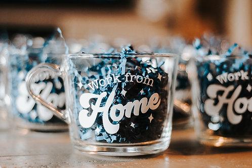 Work From Home Glass Mug
