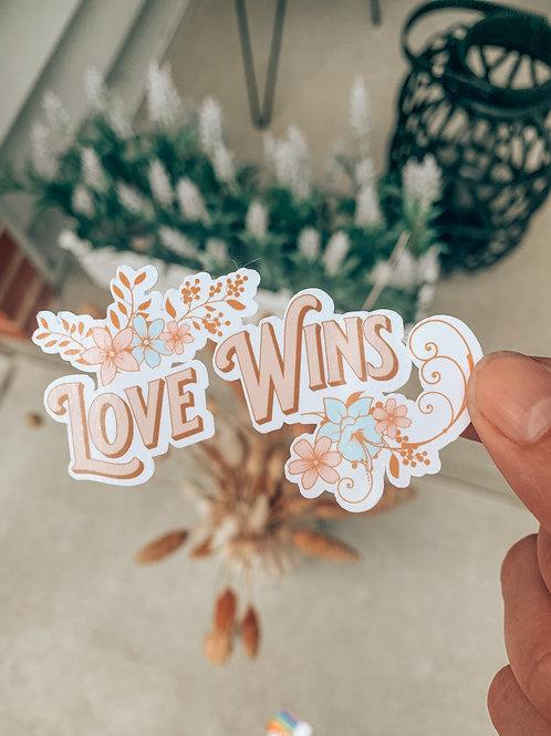 Love Wins Pride Sticker   50% of Proceeds Donated   Laptop Sticker   Water Bottl