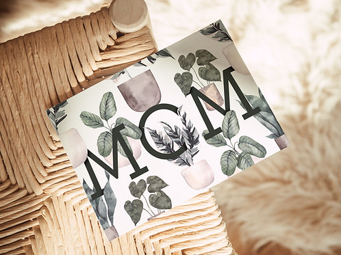 Mom Plant Card   Greeting Card   Mothers Day Card   For Mom   Plant Mom