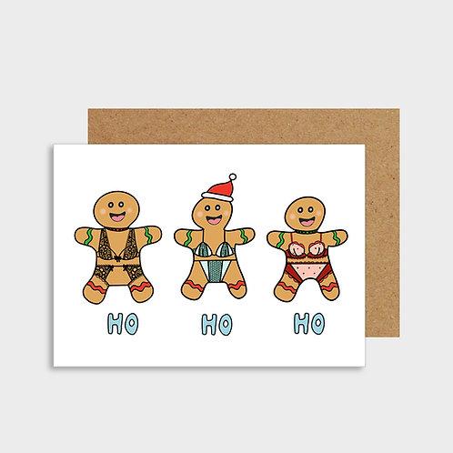 Funny Ho Ho Ho Christmas Card