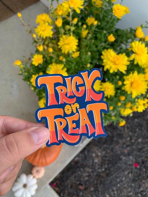 Trick or Treat Sticker