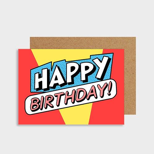 Happy Birthday Comic Book Card