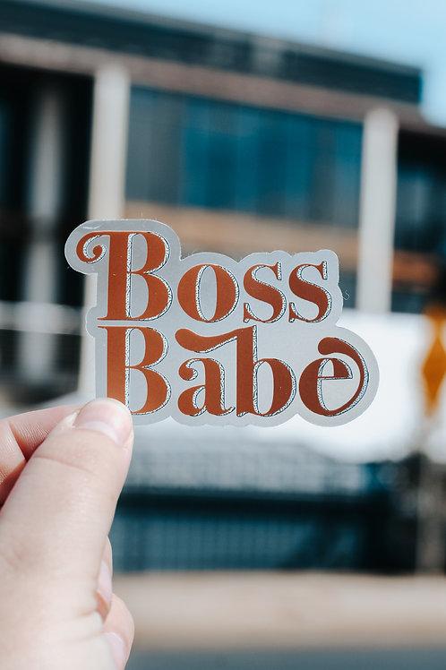 Boss Babe Clear Sticker