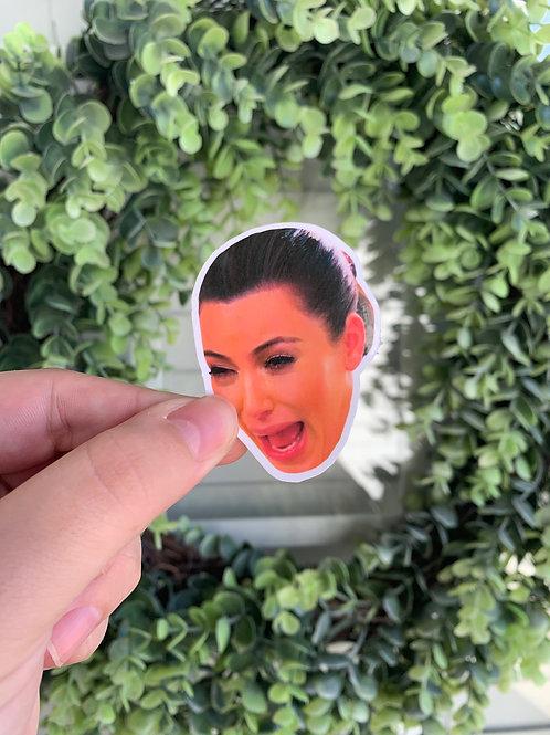 Crying Kim Kardashian Sticker