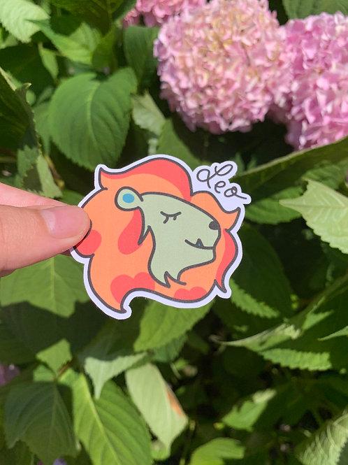 Leo Zodiac Sticker