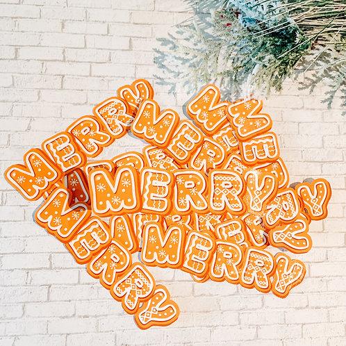 Merry Gingerbread Cookie Sticker