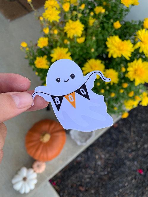 Cut Ghost Boo Sticker
