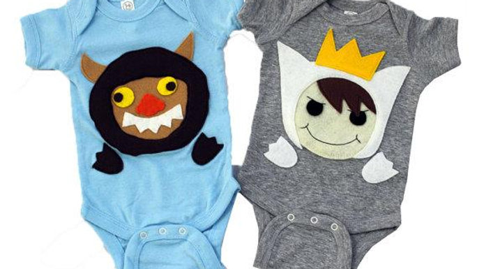 A Wild Boy & Wild Monster Infant Bodysuits Combo