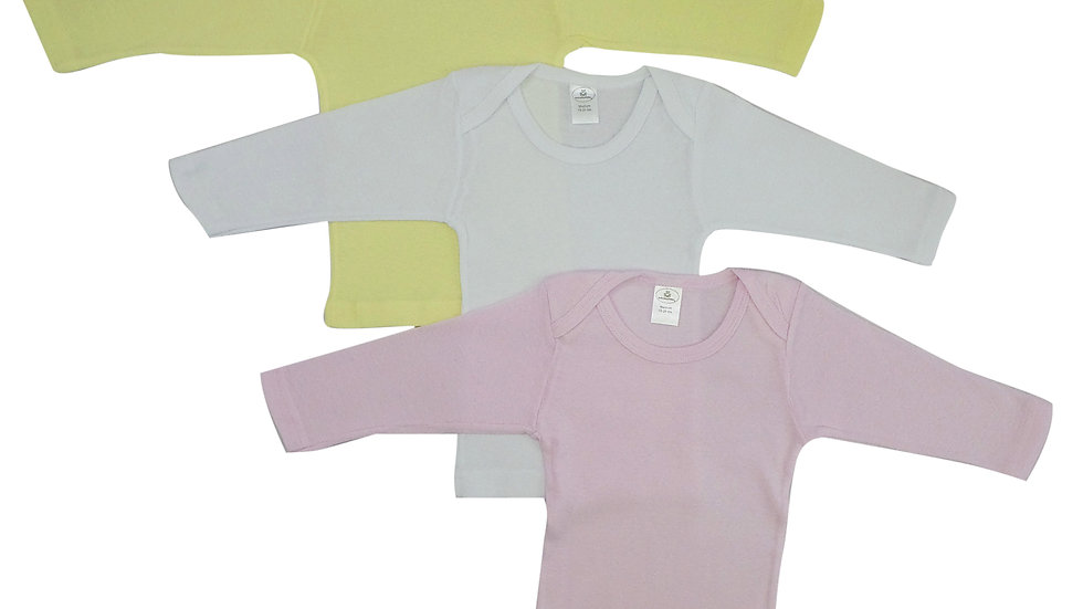 Bambini Girls Pastel Variety Long Sleeve T-Shirts