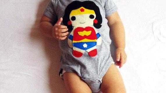 Super Hero Onesie - Wonder Girl