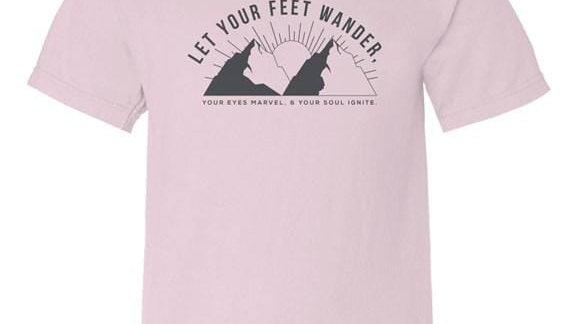 """""""Let Your Feet Wander"""" Kids T-Shirt"""