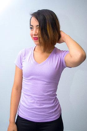 Camiseta cuello v femenina parte 1