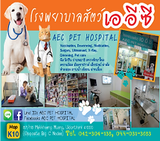 AEC Pet Hospital, Udon Thani Animal Care, Udon thani resource guide, udonmap, udonguide, udonthanimap, udonthaniguide, udonmapclassifieds, udona2z, udonthaniclassifieds, udonthani, udonforum, udonthaniforum, udoninfo, expatinfoudonthani, #udona2z