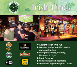 Udon Thani Resource Guide, Western Restaurants, Irish Clock