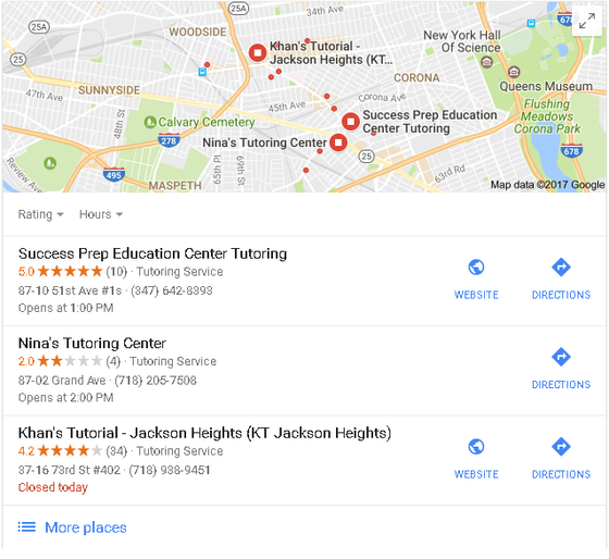 Listed #1 with 5 stars on Google!