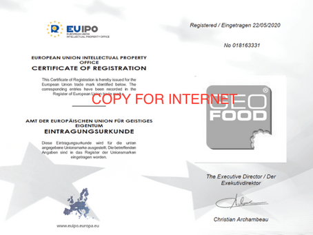 GEOfood as official European trade mark