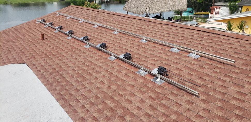 Solar System Installation-Shingle Roof