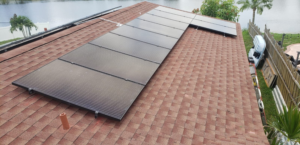 Solar System On Shingle Roof