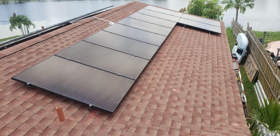 Solar System On Shingle Roof