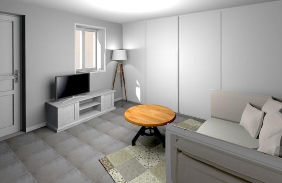 Studio indépendant sous-sol