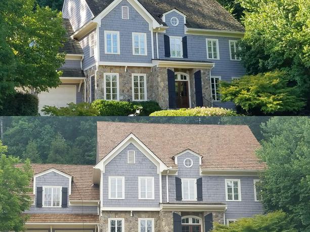 Cedar Restoration Before & After