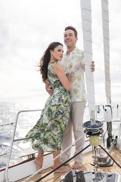 Engagement Sailing Boat, Hawaii