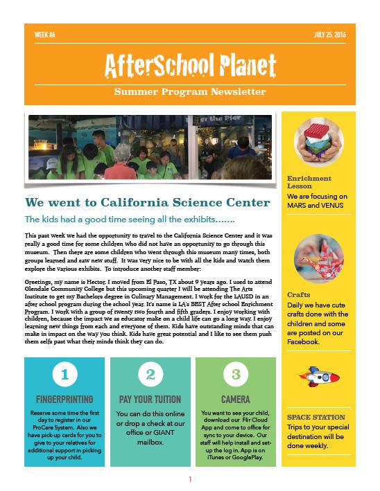 Week #6   Daycare   Tutoring   AfterSchool/Summer Prog