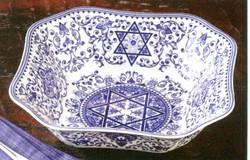 Blue on White Dish