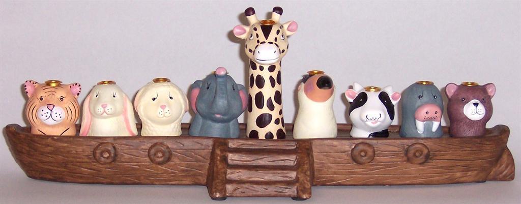 Animal Noahs Ark Menorah.