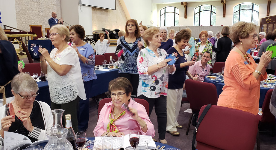 Dancing at Women's Seder
