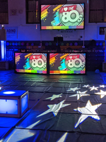 Holy Cross 80s Night 3 Projection Screen
