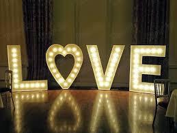 Marquee Love Heart 1 4 Foot High