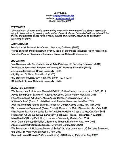Microsoft Word - Resume (Lagin) - Jan. 2