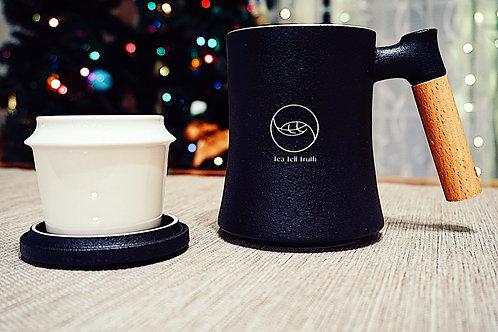 Tea Tell Truth Mug With Filter (black)