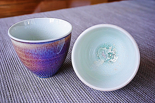One pair of Galaxy Tea Cups