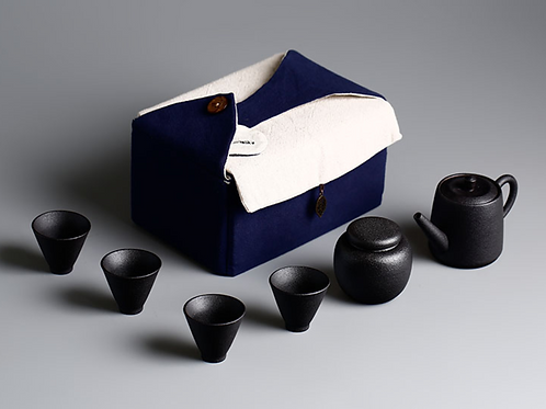 Travel Tea Set Black