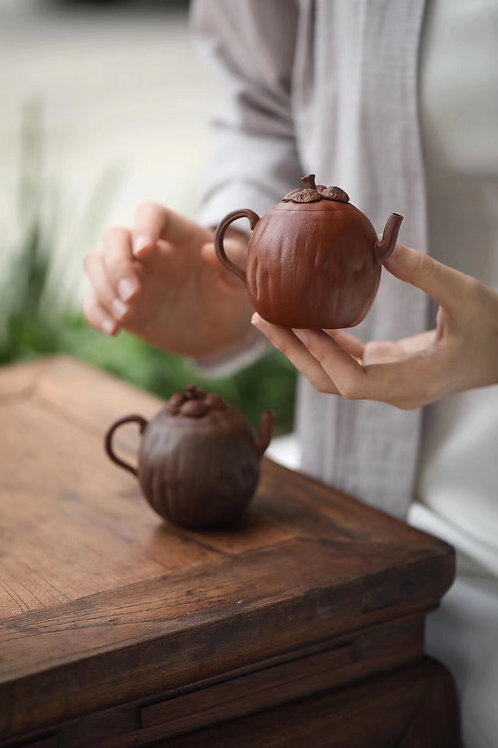 Tea Tell Truth Nature Good Hand Made Clay Tea Pot— Mangosteen