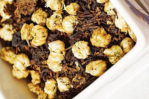 Ripe Puerh blend with Chrysanthemum Tea