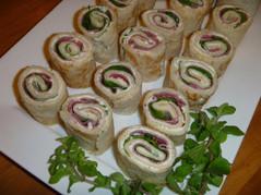 Pastrami and Rocket Wraps